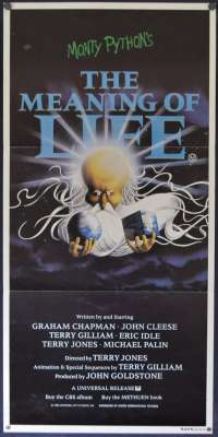 The Meaning Of Life Poster Original Daybill 1983 Monty Python John Cleese