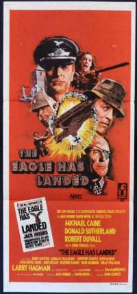 The Eagle Has Landed 1976 Daybill movie poster Michael Caine Donald Sutherland