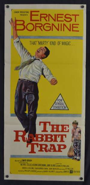 The Rabbit Trap Daybill Movie Poster Original 1959 Ernest Borgnine Don Rickles