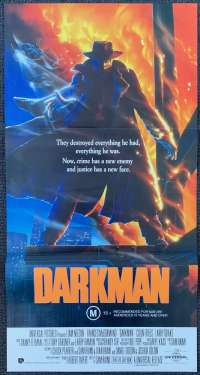 Darkman Movie Poster Original Daybill 1990 Liam Neeson Superhero
