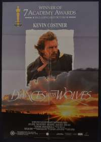 Dances With Wolves 1990 One Sheet Movie Poster Kevin Costner Wes Studi Western