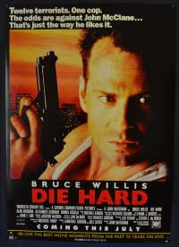 Die Hard 1988 One Sheet DVD poster Bruce Willis Alan Rickman