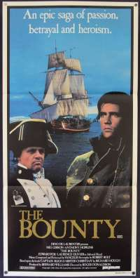 The Bounty Movie Poster Original Daybill Near Mint 1984 Mel Gibson