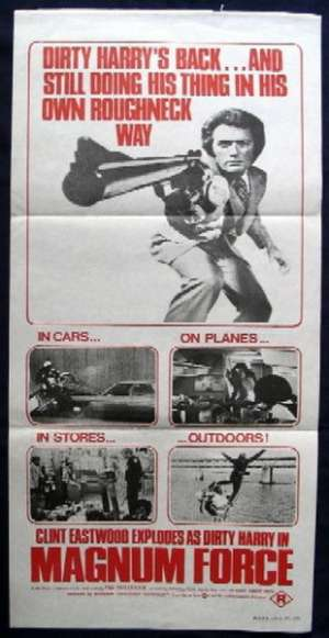 Magnum Force Poster Original Daybill 1973 Clint Eastwood Dirty Harry