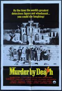 Murder By Death Peter Falk Alec Guinness One Sheet movie poster