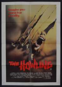 The Howling Movie Poster One Sheet Dee Wallace Patrick Macnee Werewolves
