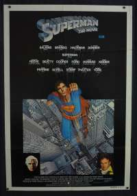 Superman Movie Poster Original One Sheet 1978 Christopher Reeve Marlon Brando
