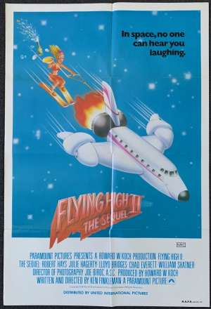 Flying High 2 Movie Poster Original One Sheet 1982 Airplane 2 Robert Hays