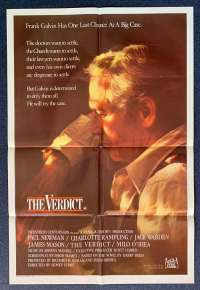 The Verdict Poster Original One Sheet 1982 Paul Newman Charlotte Rampling