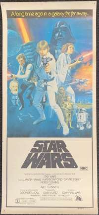 Star Wars Movie Poster Original Daybill 1977 Tom Chantrell Art