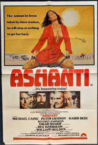 Ashanti - Michael Caine One Sheet Australian Movie poster
