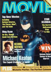 Movie Magazine 1992 Number 4 Batman Returns Michael Keaton