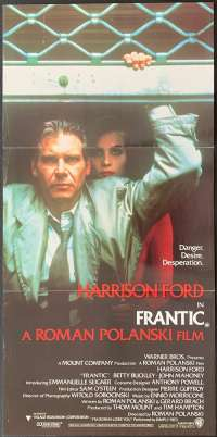 Frantic 1988 Daybill movie poster Harrison Ford Roman Polanski