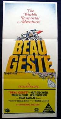 Beau Geste 1966 - Doug McClure Daybill Movie poster