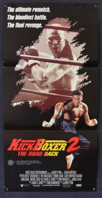 Kickboxer 2 The Road Back 1991 Rare Daybill movie poster Sasha Mitchell