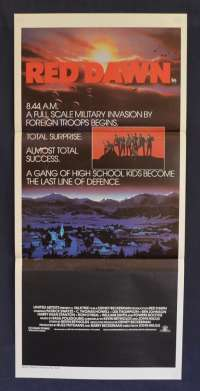 Red Dawn 1984 Patrick Swayze Charlie Sheen Daybill movie poster