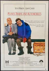 Planes, Trains And Automobiles 1987 One Sheet movie poster Steve Martin John Candy