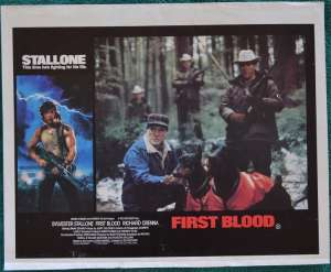 First Blood Lobby Poster Original 11x14 No.4 Sylvester Stallone Rambo