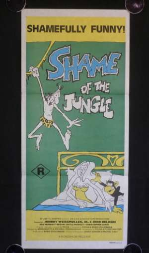 Shame Of The Jungle Daybill Movie poster