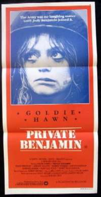 Private Benjamin 1980 Goldie Hawn Daybill movie poster