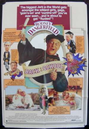 Back To School Poster Original One Sheet 1986 Rodney Dangerfield Sally Kellerman