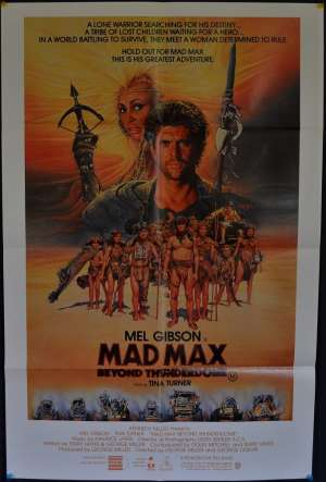 Mad Max 3 Beyond Thunderdome Movie Poster Original One Sheet Mel Gibson