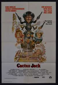 Cactus Jack Aka The Villain Movie Poster One Sheet Arnold Schwarznegger