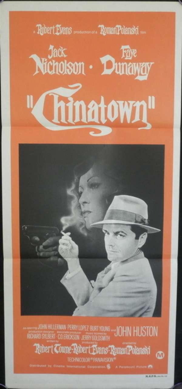 All About Movies Chinatown 1974 Daybill Movie Poster Jack Nicholson Faye Dunaway