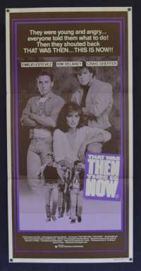 That Was Then This Is Now 1985 movie poster Daybill Emilio Estevez The Outsiders