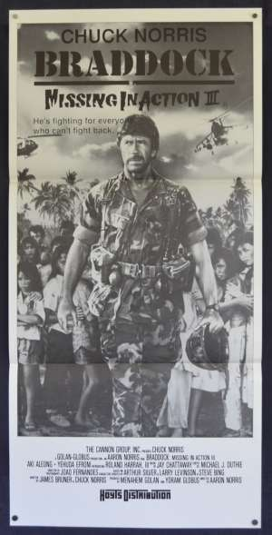 Missing In Action 3 Poster Original Daybill Rare 1988 Chuck Norris