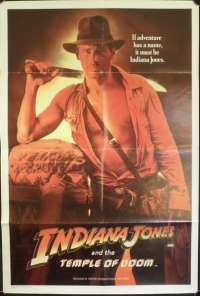 Indiana Jones And The Temple Of Doom 1984 One Sheet movie poster Harrison Ford