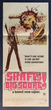 Shaft's Big Score Poster Original Daybill 1972 Richard Roundtree Gordon Park