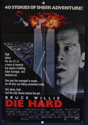 Die Hard Poster Original One Sheet 1988 Bruce Willis Alan Rickman