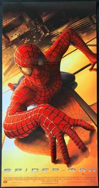 Spiderman Movie Poster Original Daybill Rolled 2002 Tobey Maguire Sam Raimi
