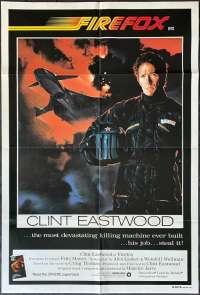 Firefox 1982 One Sheet movie poster Clint Eastwood MIG 31 Jet Pilot