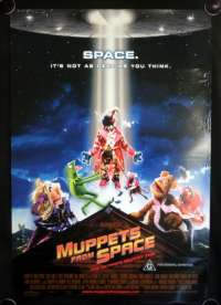 The Muppets From Space Movie Poster One Sheet Kermit Miss Piggy
