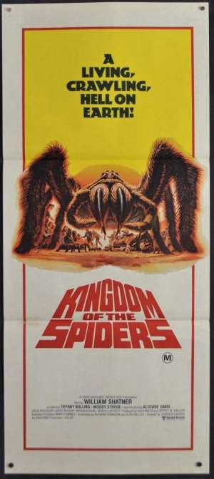 Kingdom Of The Spiders Movie Poster Original Daybill 1977 William Shatner Horror
