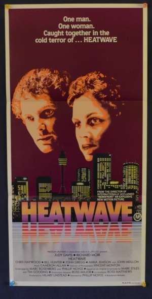 Heatwave 1982 movie poster Judy Davis Chris Haywood Daybill