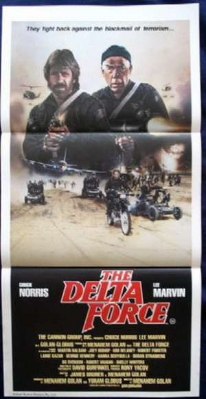 The Delta Force Poster Original Daybill 1986 Chuck Norris Lee Marvin