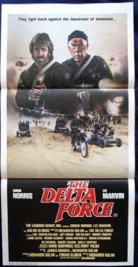 The Delta Force 1986 Daybill movie poster Chuck Norris Lee Marvin