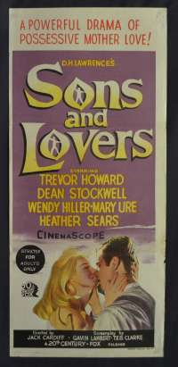 Sons And Lovers Poster Original Daybill Hand Litho 1960 Trevor Howard Mary Ure