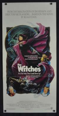 The Witches 1990 Daybill Movie Poster Anjelica Huston Roald Dahl Jim Henson