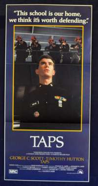 TAPS 1981 Daybill Movie Poster Timothy Hutton Sean Penn Tom Cruise Ronny Cox