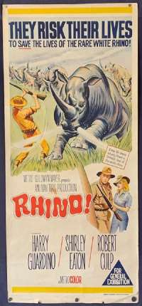 Rhino Poster Original Daybill 1964 Harry Guardino Shirley Eaton Robert Culp