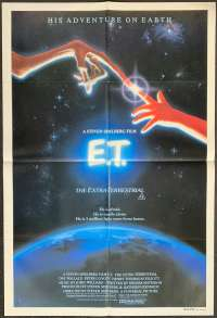 E.T. The Extra-Terrestrial Poster Original One Sheet 1982 Alvin Art Henry Thomas