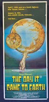 The Day It Came To Earth Poster Original Daybill 1977 Wink Roberts Sci-Fi
