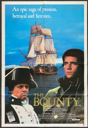 The Bounty Movie Poster Original One Sheet 1984 Mel Gibson Anthony Hopkins