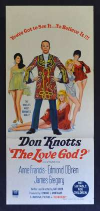The Love God ? 1969 Daybill movie poster Don Knotts Edmond O'Brien Anne Francis