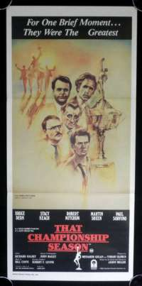 That Championship Season 1982 Daybill movie poster Rare Drew Struzan Art