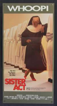 Sister Act movie poster Daybill Whoopi Goldberg Maggie Smith Harvey Keitel